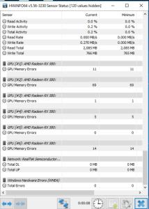 Ethereum GPU Mining Guide Memory Errors in HWinfo64